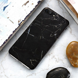 Black Pattern FLOVEME Marble Case For iPhone